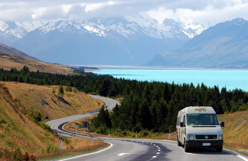 A Mighty Camper near Mt Cook National Park