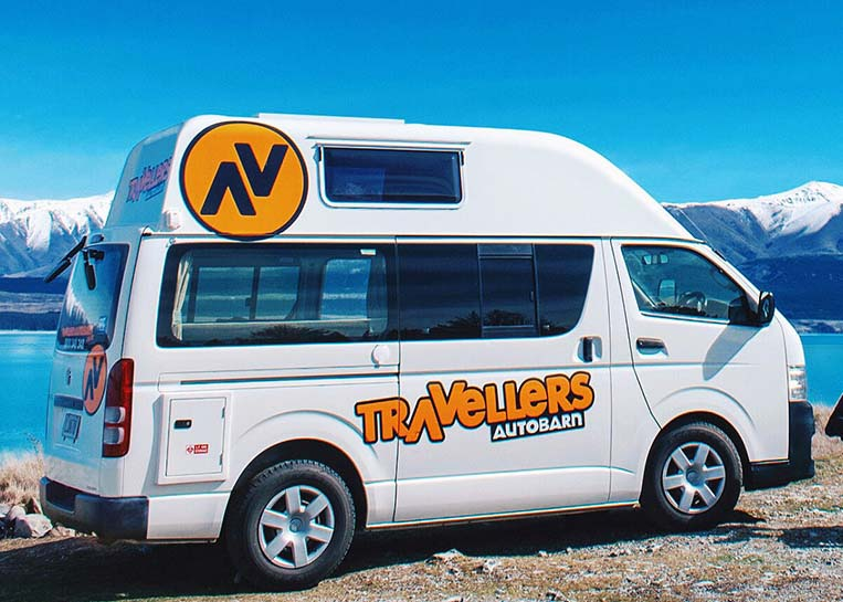 A campervan from Travellers Autobarn in NZ