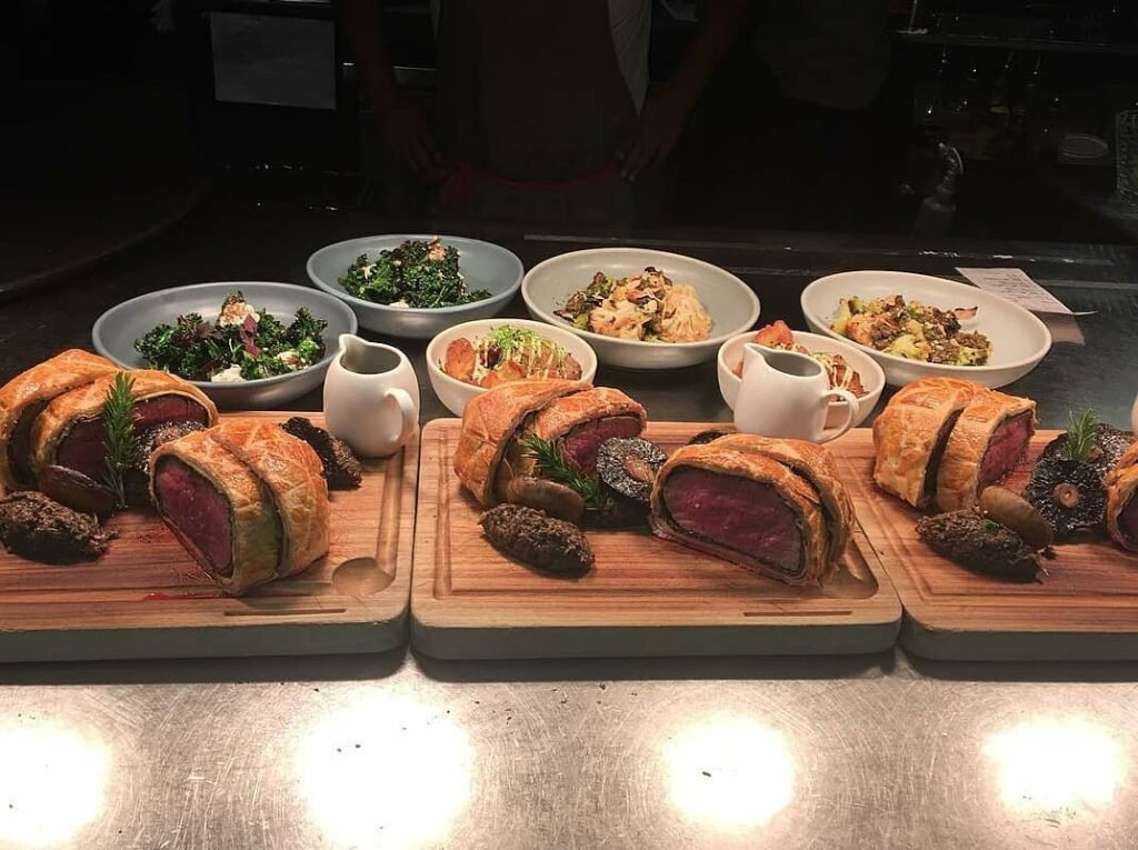 delicious beef wellington from Rata restaurant in Queenstown