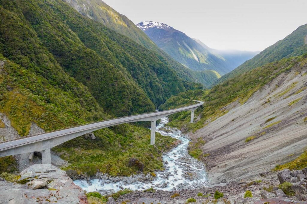 Otira Viaduct Lookout on Arthurs Pass, New Zealand