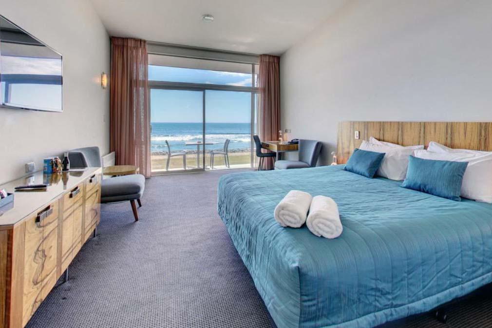 A room at The Beachfront Hotel Hokitika