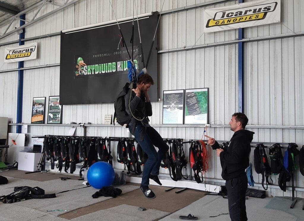 person practicing skydiving at Skydiving Kiwis in Ashburton