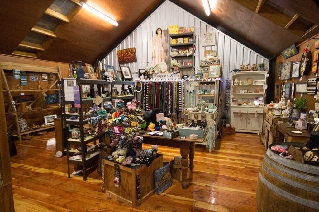 inside of Waipuna Studio along the drive from Christchurch to Lake Tekapo