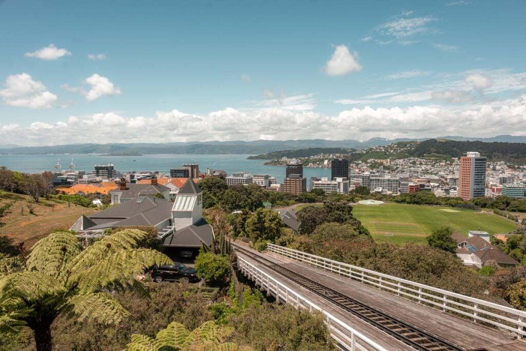 The Wellington Tram on the City to Sea Walkway
