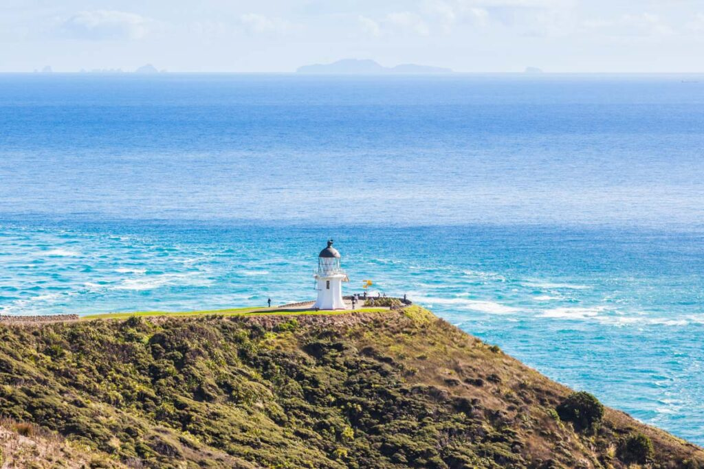Cape Regina Lighthouse on the Te Paki Coastal Track, New Zealand