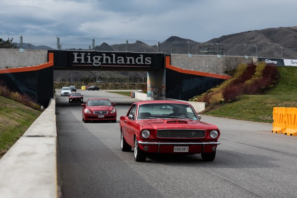 view of cars at Highlands Motor Sports near Cromwell, New Zealand